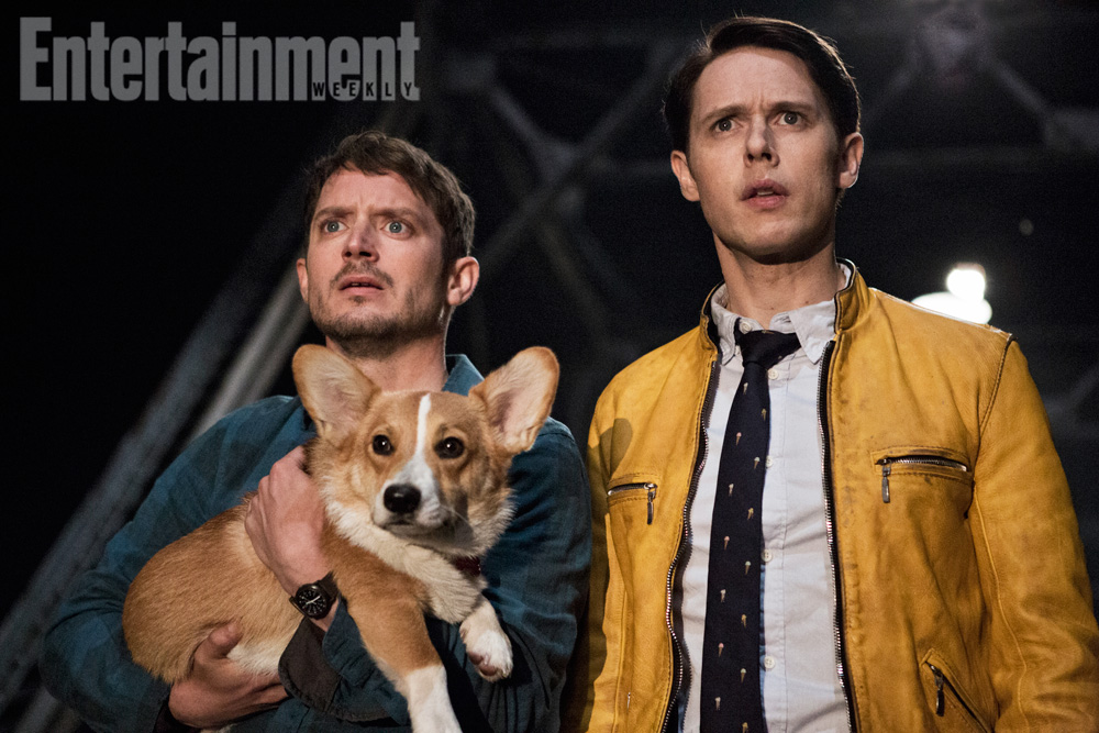 Dirk Gentlyís Holistic Detective Agency Season 1, Episode 1 Air Date: 10/22/16 Pictured: Elijah Wood (Todd) and Samuel Barnett (Dirk Gently)